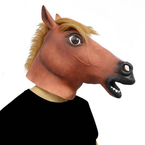 Hilarious Fancy Dress Latex Horse Mask 🐴🍺