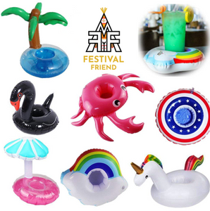 7 Piece Inflatable Drink Holder Set, Great For Pool Parties or Drinking On Uneven Ground