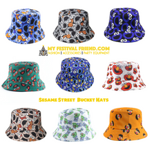 Load image into Gallery viewer, Cookie Monster 2nd Edition Bucket Hat - Grey & Red