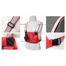 Load image into Gallery viewer, Black Chest Rig Bag with Reflective Straps - Night Vision (Black and Red Designs)