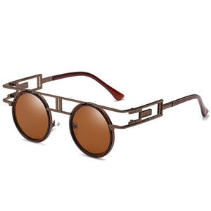Dapper Don - Vintage Round Men's Sunglasses - Tan Frames + Tan Lenses