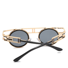 Load image into Gallery viewer, Dapper Don - Vintage Round Men's Sunglasses - Gold Frames + Tan Lenses
