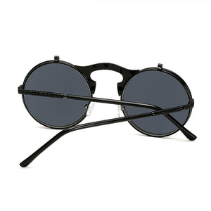 Flip The Script - Sunglasses With Flip Frames - Gold Frames + Black Lenses