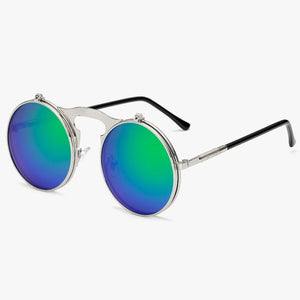 Flip The Script - Sunglasses With Flip Frames - Silver Frames + Black Lenses