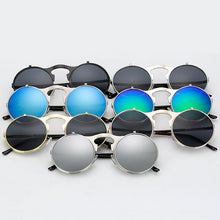 Load image into Gallery viewer, Flip The Script - Sunglasses With Flip Frames - Gold Frames + Black Lenses