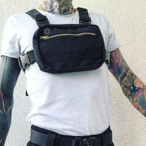Men's Black Mini Chest Rig Bag - Stealth Mission