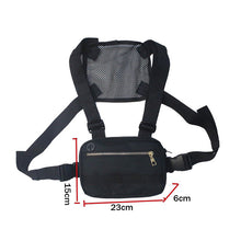 Load image into Gallery viewer, Men's Black Mini Chest Rig Bag - Stealth Mission