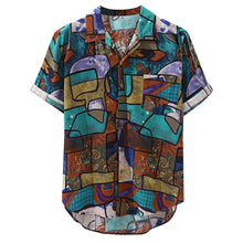 Load image into Gallery viewer, Turquoise Artistic Festival Shirt