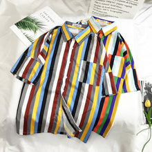 Load image into Gallery viewer, Men's Striped Multicolour Beach Tops