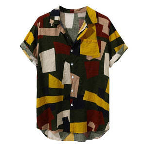 Mosaic Tapestry Shirt Red & Yellow - 2 Designs