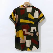 Load image into Gallery viewer, Mosaic Tapestry Shirt Yellow Multicolour