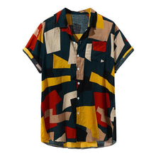 Load image into Gallery viewer, Mosaic Tapestry Red Multicolour Shirt