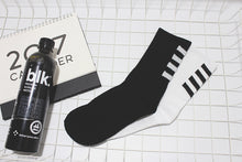 Load image into Gallery viewer, White & Black Skateboarder Socks with Arrows - (2 Designs)
