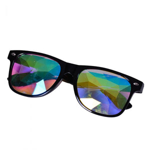 Black Frame Wayfarer Kaleidoscope Glasses