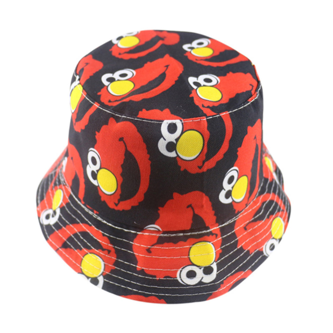 Elmo Edition - Cartoon Series Bucket Hat - Black & Red