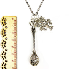 Load image into Gallery viewer, Sophisticated Decadence Spoon with Money Tree 🤑🌲 Chain Necklace - Silver