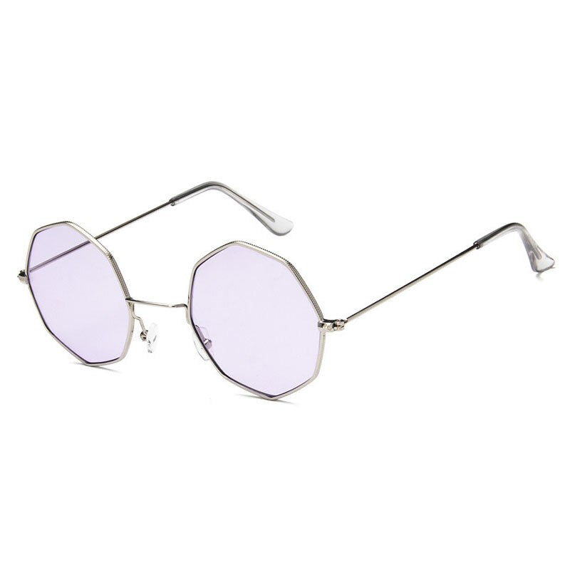 Smooth Operator - Vintage Party Sunglasses - Silver Frame + Purple Lenses