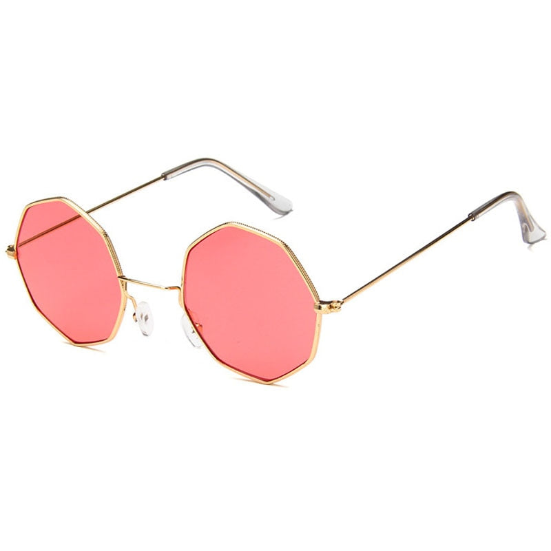 Smooth Operator - Vintage Party Sunglasses - Gold Frame + Peach Lenses