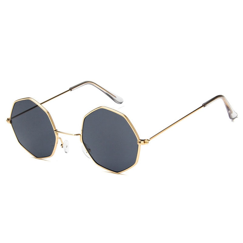 Smooth Operator - Vintage Party Sunglasses - Gold Frame + Black Lenses