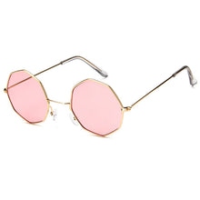 Load image into Gallery viewer, Smooth Operator - Vintage Party Sunglasses - Gold Frame + Peach Lenses