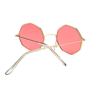 Smooth Operator - Vintage Party Sunglasses - Gold Frame + Pink Lenses