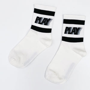 Time to Play Socks - White & Black