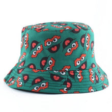 Load image into Gallery viewer, Oscar The Grouch 2nd Edition Bucket Hat - Green & Red