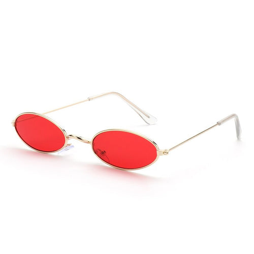 Old Skl Cat Eye Rave Shades Glasses 😎 - Red & Gold