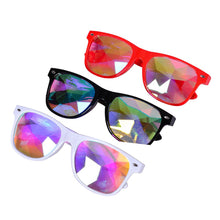 Load image into Gallery viewer, Black Frame Wayfarer Kaleidoscope Glasses