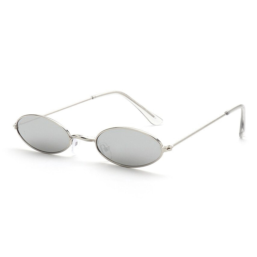 Old Skl Cat Eye Rave Shades Glasses 😎 - Silver & Silver