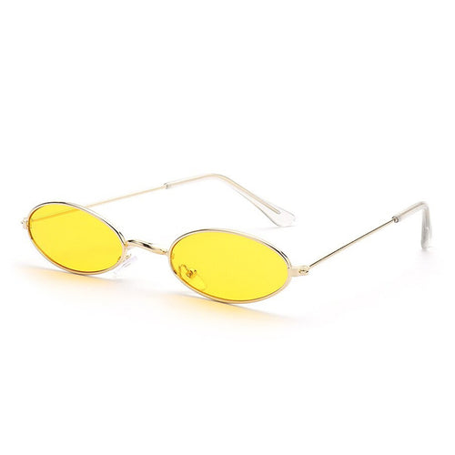 Old Skl Cat Eye Rave Shades Glasses 😎 - Yellow & Gold
