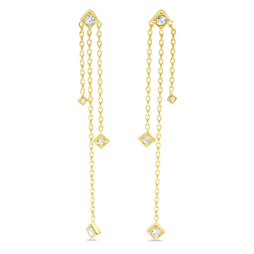 Lex Diamond Dangle Earrings