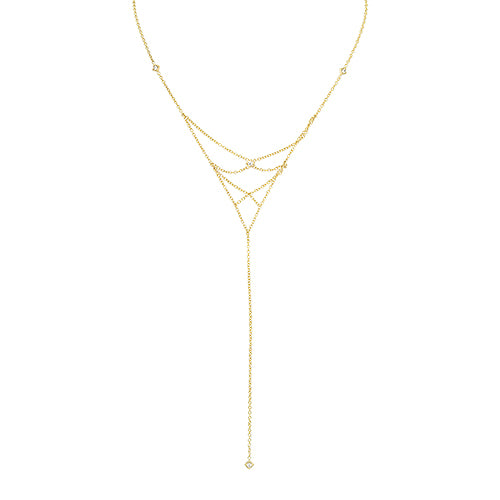 "Lex ""X' Diamond Lariat Necklace"