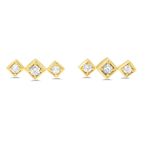 Lex Triple Diamond Studs