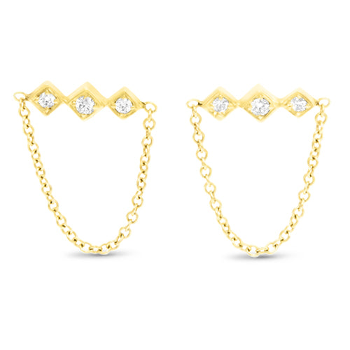 Lex Triple Diamond Dangle Earrings