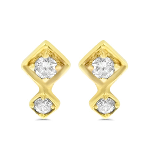 Lex Double Diamond Studs
