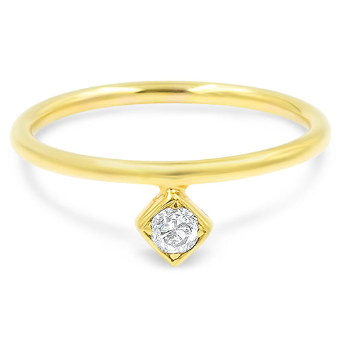 Lex Single Diamond Stackable ring