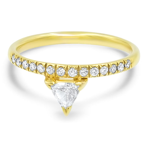 """Tri""angle Diamond Stackable Ring"