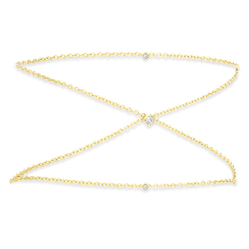 "Lex ""X"" Diamond Chain Bracelet"