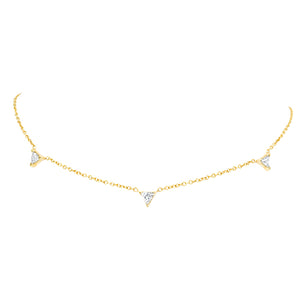 """Tri""angle Triple Diamond Necklace"