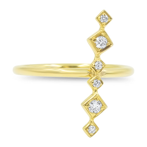 Lex Linear Diamond Ring