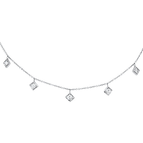 Lex Five Diamond Motif Necklace