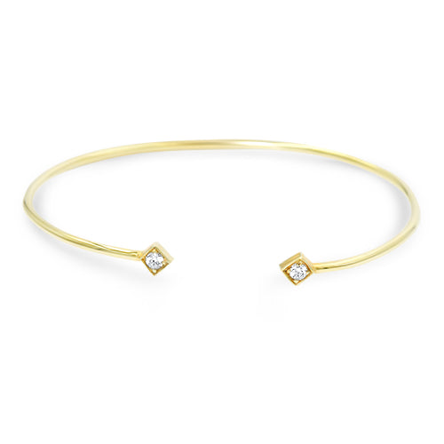 Lex Open Diamond Bangle
