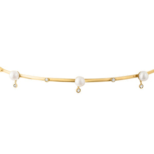 Diana Pearl and Diamond Choker