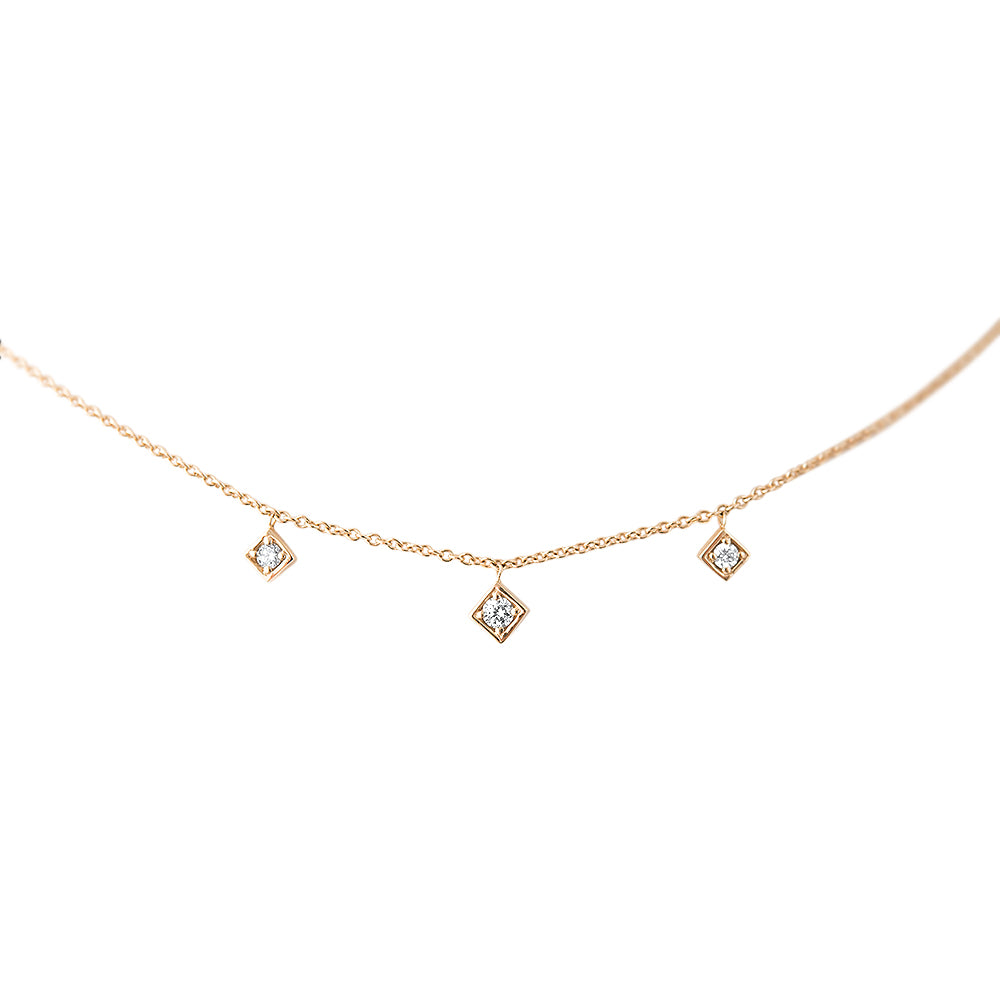 Lex Triple Diamond Dangle Necklace