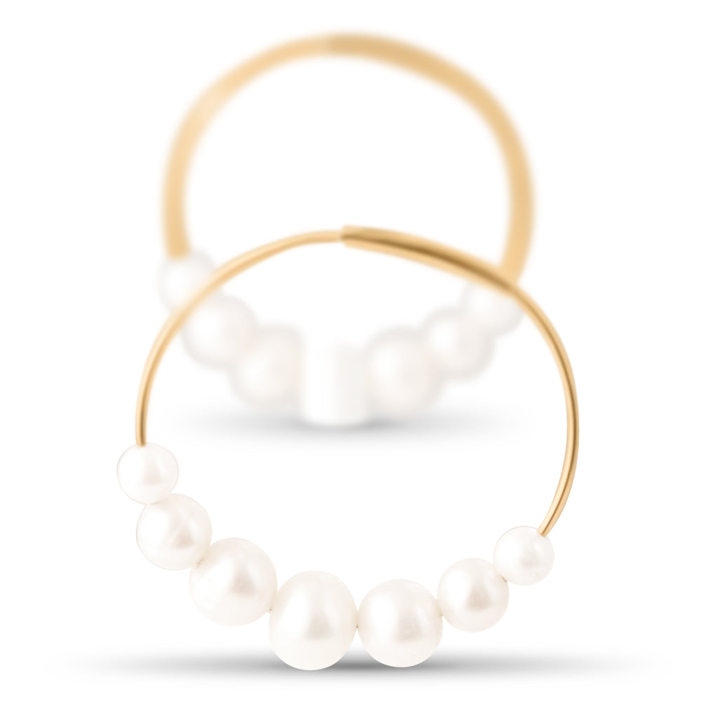 Diana Endless Pearl Hoops
