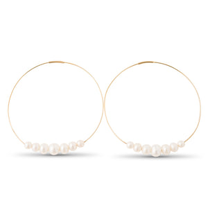 Diana Large Endless Pearl Hoops