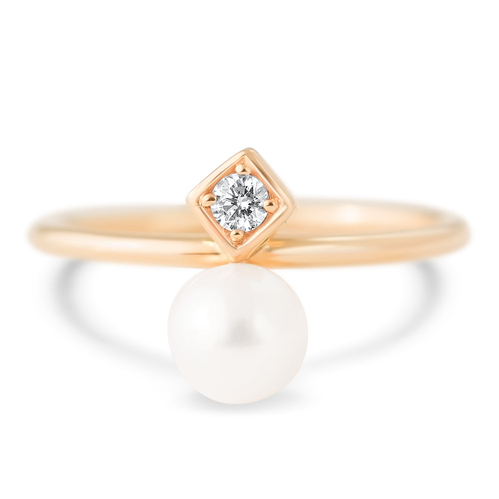 Diana Pearl and Diamond Ring