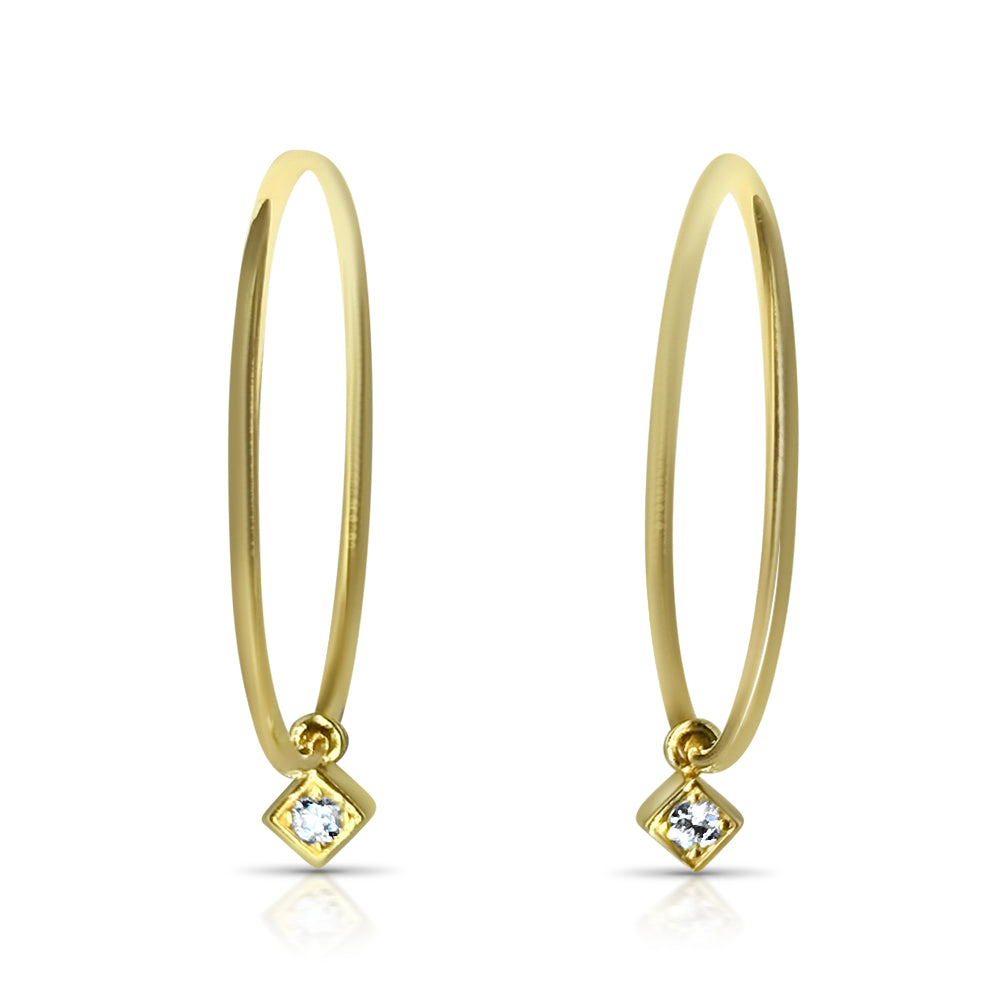 Little Lexi Charm Hoops