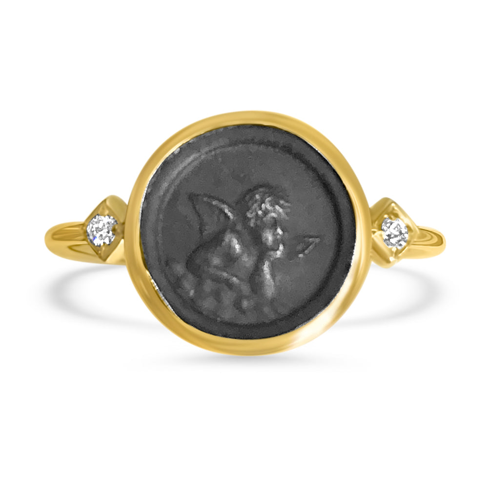 Angel Coin and Diamond Ring